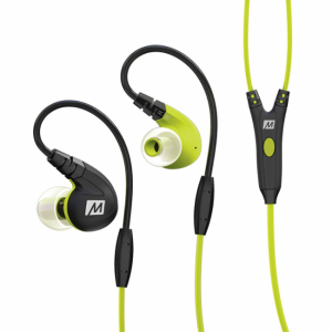 Sport Earphone, med mic. Grøn