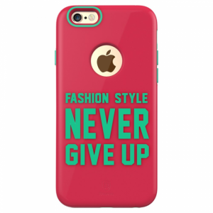iPhone 6/6S cover med tekst. Pink