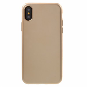 iPhone X Cover TPU Fleksibel gummi. Gold