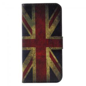 iPhone X Flipcover til kort. Engelsk Flag.
