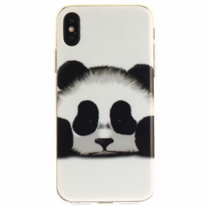 iPhone X Cover TPU Panda