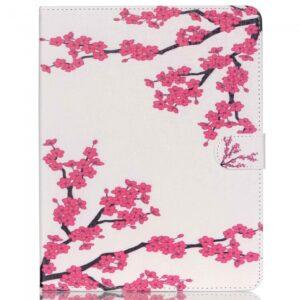 iPad 2/3/4 Flipcover. Hvid med pink blomstergren.
