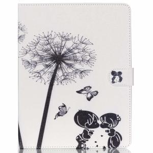 iPad 2/3/4 Flipcover. Hvid m. dreng og pige i sort