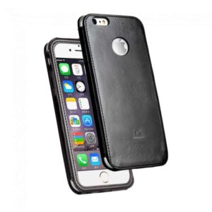 iPhone 6/6S læder cover, sort