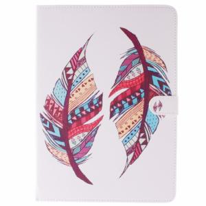 iPad Air 2 Flip-cover, hvid med farvet fjer.