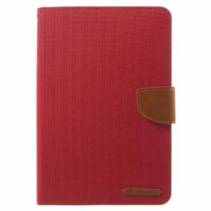 iPad mini Kanvas flip-cover m. kortholder, Rød