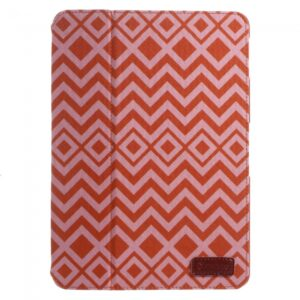 iPad Air Flip-cover, med rødt bølge mønster.