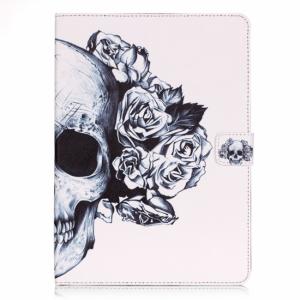 iPad Mini cover m. kortholder og dvalefunktion, hvid med skelethovede