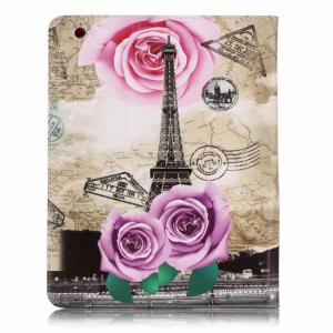 iPad 2/3/4 Flipcover. Eiffel tårnet og roser