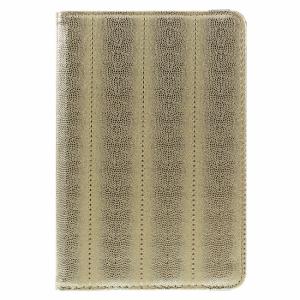 iPad mini 360* Flipcover. PU slangeskind. Gold