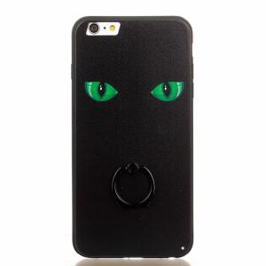 iPhone 6/6S Bagcover sort m. grønne øjne.