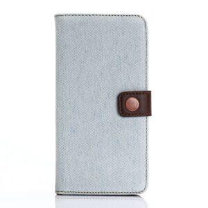 iPhone 7+/8+ flipcover t. kort. Jeans lyseblå.