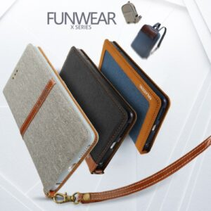 iPhone 7+/8+  flipC. t. kort Tekstil m. PU læder
