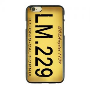 iPhone 6/6S Bagcover med tekst. Gul