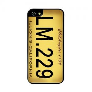 iPhone 5/5S/SE Bagcover med tekst. Gul