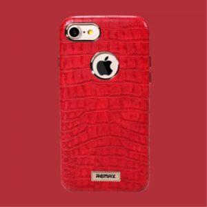 iPhone 7+/8+ Kroko præget PU læder cover. Rød