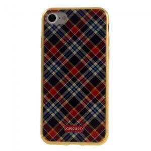 iPhone 7/8 TPU Cover. Skotskternet Rød/M.Blå