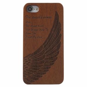 iPhone 7/8 trælook cover. Englevinger