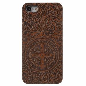 iPhone 7/8 trælook Cover. Blomst