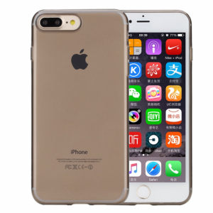 iPhone 7+/8+ Cover Rock gennemsigtig sort