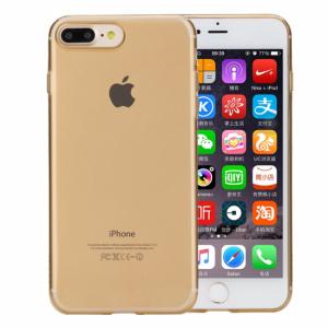 iPhone 7+/8+ cover Rock gennemsigtig gold