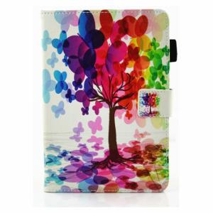 iPad mini Flipcover med lommer. Malet træ
