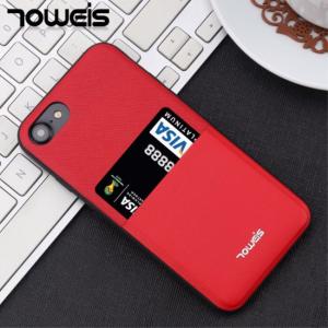 iPhone 7/8 Cover m. kortholder, rød