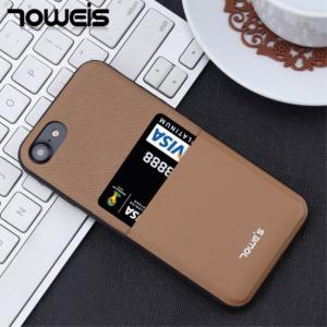 iPhone 7/8 Cover m. kortholder, brun
