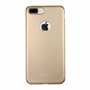 iPhone 7+/8+ Cover. Plastik m. gummi Gold
