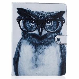 iPad Air 2 Flipcover m. lommer. Ugle med briller