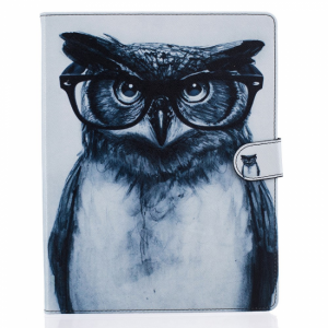 iPad 2/3/4 flipcover. Ugle med briller.