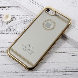 iPhone 7/8 Cover TPU Rhinestone dek. Guld
