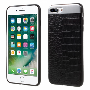 iPhone 7+/8+ Cover PU Læder Coated sort.