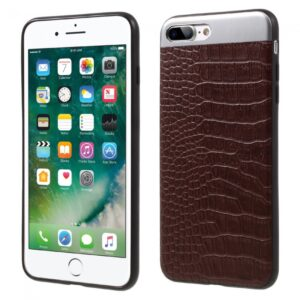 iPhone 7+/8+ Cover PU Læder Coated Brun.