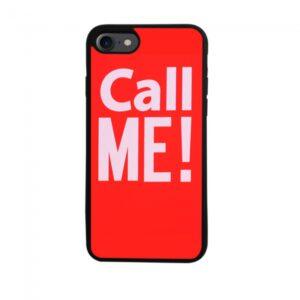 iPhone 7/8 TPU Cover, rød med tekst.
