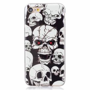 iPhone 7/8 Cover m. dødningehoveder Lysefekt