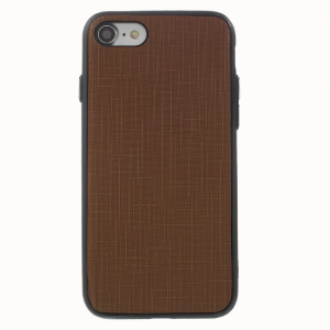 iPhone 7 Bagcover. PU Læder Textur. Mørkebrun