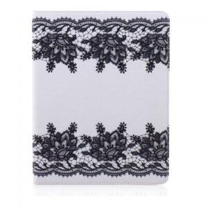 iPad 2,3,4 Flipcover. Hvid med sorte blonder.