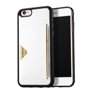 iPhone 6/6S Cover. Bagside med plads til kort Hvid
