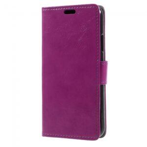 iPhone X flipcover til kort. PU Læder sort lilla.