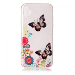 iPhone X Cover. Klar med sommerfugle.