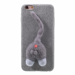 iPhone 6/6S Plus Cover Microfibercoated kat Grå