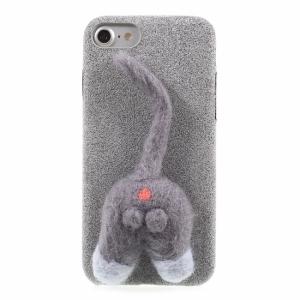 iPhone 7/8 Cover coated kattehale Grå