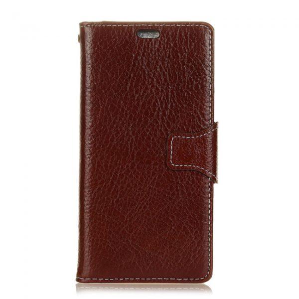 iPhone 7/8 Flipcover til kort. Læder brun