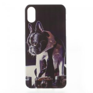 iPhone X Cover TPU. Hund med slips