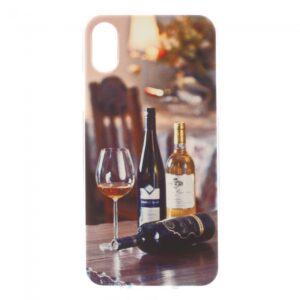 iPhone X Cover TPU. Vin og vinglas.