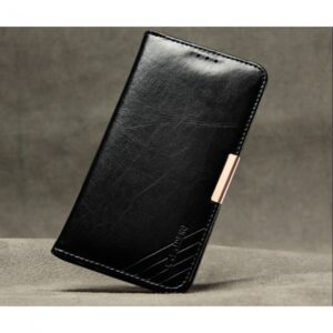 Samsung GS 7 Edge Flipcover til kort. Læder Sort