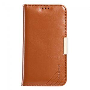 Samsung GS 7 Edge Flipcover til kort. Læder Brun