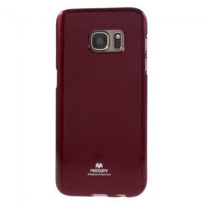 Samsung GS 7 Cover. TPU Glitter Rød