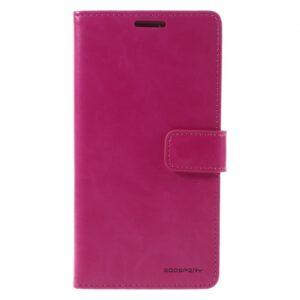 Samsung GS 7 Edge Flipcover til kort PU Læder Pink
